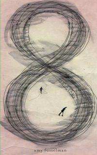 RADHIKA: This book cover designed by Nicole Caputo is very appealing due to the large scale of the title; 8. The title is unusual as it is a single number and it is depicted as wet ink on paper, giving the viewer the urge to touch the book and see if the ...