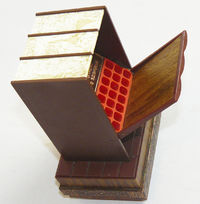 Vintage Russian Soviet Music Cigarette Box Case Holder USSR Bookshelf $34.99
