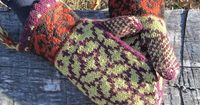 Ravelry: Not-So-Norwegian Mittens pattern by Lizabeth Towers. Here is another free beginners pattern done in worsted so I could get some quick introduction to fair isle knitting. It might go up fast to serve as a training set of mittens for color change &...