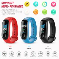KALOAD M3 0.96in IPS Touch Color Screen IP68 Waterproof Smart Watch Wristband Blood Pressure Sleep Monitor Sport Bracelet Fitness Tracker