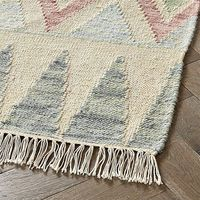 Shop Merchant 4 x 6' Rug. Our Merchant Rug makes it easy to add a global touch to any kids bedroom, playroom, or even your living room. The woven construction makes it durable, while the fringe patterns on either side give it a touch of flair.