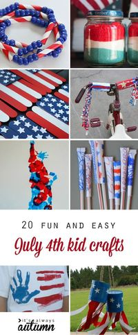 Fourth of July crafts for kids. Family and kid activities to help celebrate Independence Day. Art projects, games, and more.