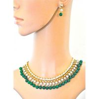 Buy Nawabi Necklace Set with Emeralds from Orne Jewels