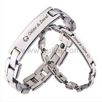 Gullei.com Custom Names Titanium Magnetic Bracelets for 2 https://www.gullei.com/couples-gift-ideas/his-and-her-bracelets.html