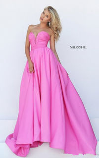50479 Sweetheart Simple Pink Ball Gown