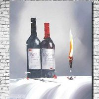 Red Wine Oil Painting On Canvas Hand Painted