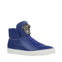 $110.00 Versace Palazzo Slip-On Sneakers Blue