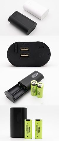26650 Li-on Battery Charger Portable Power Bank Travel Camping Hiking USB Battery Charger