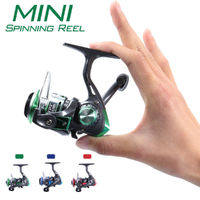 Mini Metal Fishing Reel Spinning Reel 8 Ball Bearings for Saltwater Freshwater Outdoor Fishing Line Winder