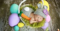 Crochet Bunny Rabbit Hat and Diaper Cover Set by InTheLoopBowtique, #Easter #Bunny #newborn