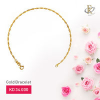 Add a touch of classic shimmer with this stunning gold bracelet.