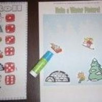 Free!!! Roll a Winter Scene Dice Game!