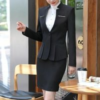 Price: $70.21 | Product: New fashion slim work office wear ladies long sleeve blazer with pant | Visit our online store https://ladiesgents.ca