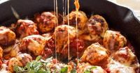How do you make meatballs even better, do you ask? Stuff them with mozzarella and smother them in marinara sauce and more cheese, that's what! This recipe all c
