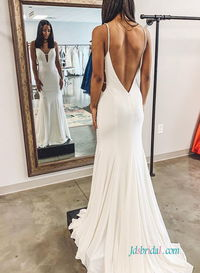 Sexy open back backless mermaid #weddingdress