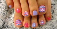 Toenails - I like the design and the pink.