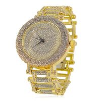 Gold Plated Crystal Dial Round Bezel Watch £29.95