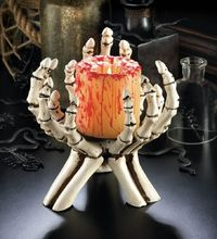 Skeleton Hands Candle Stand $24.95