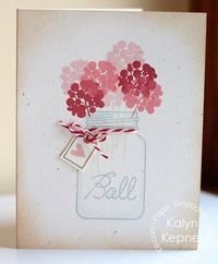 Card by PS DT Kalyn Kepner using the PS Crystal Clear stamp set