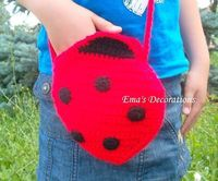 Ema's Decorations: Ladybug Crochet Bag - a pattern