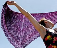 Regenerate shawl : Knittyspin Spring+Summer 2014 - I'll definitely have to find the yarn to make this.