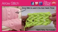 Arrow Crochet Stitch - Left & Right Handed Video also included.