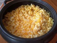 """""""Crockpot macaroni and cheese recipes are perfect for busy weekdays. There are eggs, butter, milk, macaroni and three kinds of cheese in this homemade ..."""""""