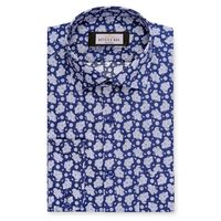 Create a stylish look with this Oxford Men blue and white designer shirt. Woven in Egyptian cotton & polyester. this shirt has a fine finish.  �€� 80%Cotton & 20%Polyester  �€� Classic collar  �€� French cuff  �&#...