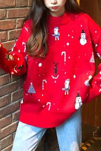 Pavacat Solid Color Christmas Loose Sweater $27.99