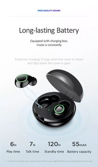 Usams US-LI001 TWS Wireless bluetooth 5.0 Earphone Stereo Smart Touch Noise Reduction Bilateral Call Headphone with Charging Box
