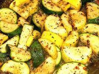 Sauteed Zucchini and Summer Squash Serves 2 - 3 Ingredients 1 zucchini 1 summer squash 2 T. olive oil 2 garlic cloves, minced 1/2 t. salt 1...