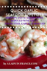 This is a very quick shrimp and scallop recipe that uses reduced wine, butter, parmesan and sour cream. It makes your house smell like a five-star restaurant an