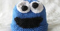 Hand Knitted Baby Hat-Hand Knitted Children Clothing-All Weather Knitted Baby Hat-COOKIE MONSTERor ELMO Baby Hat