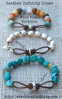 Learn To Make Leather Links For Jewelry - this links to a video you can buy - I want to try and figure it out myself.