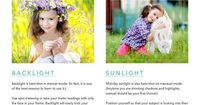 Take your photography skills to the next level with this FREE Photography Cheat Sheet to help you use backlight and sunlight to it's best potential.