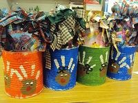 Holiday Buckets...let kids fill with cookies they decorate or make them a decorating kit to take home and do with mom and dad cookies for santa night
