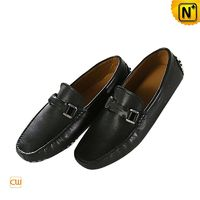 Kuala Lumpur Mens Black Leather Loafers Penny Shoes CW740030