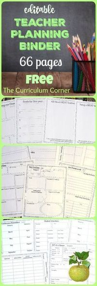 This editable Teacher Planning Binder is designed to include everything you need to get your school year started on an organized note. FREE teacher binder!