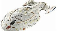 Revell U.S.S. Voyager Star Trek Plastic Model Kit, painting and glueing required. (Barcode EAN = 4009803048017). http://www.comparestoreprices.co.uk//revell-u-s-s-voyager-star-trek.asp