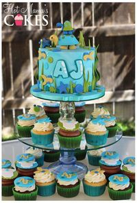 Turtle themed baby shower!