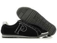 Prada BL7X6N Footwear in Black Outlet Online prada-bagsoutlet.net