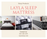 The Layla mattress is a very unique and comfortable mattress which sleeps cool due to the copper-infused cover & ThermoGel technology. It has flippable firmness, giving you the benefit of two comfort levels in one. Contact us for more! For more: http...