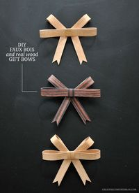 DIY Faux Bois + Real Wood Gift Bows | Creature Comforts Blog