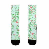 �œ� Handcrafted in USA! �œ� Support American Craftsmen. Spring Flora Pattern US Size 7-13 Socks $15.99