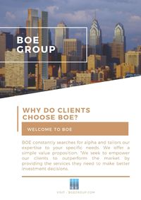 BOE is a global financial services boutique that provides brokerage execution and research services to institutional investors.