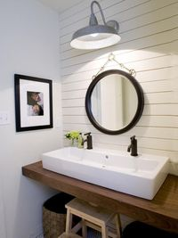 Get ideas for giving your bathroom a new look at HGTV.com.