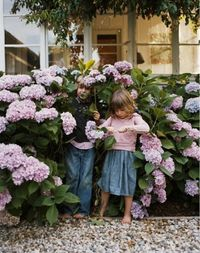 This reminds me of when my sis + I were kids in Kauai. We would play in the neighbors' flower garden and pretend we could make magic. I still believe the world is full of magic.