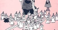 MOOMIN KNITTING..,. look at all of Little My`s family!