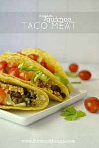 Go south of the border but stay healthy with this spicy Quinoa Taco �€œMeat�€.