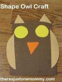 preschooler owl craft by There's Just One Mommy